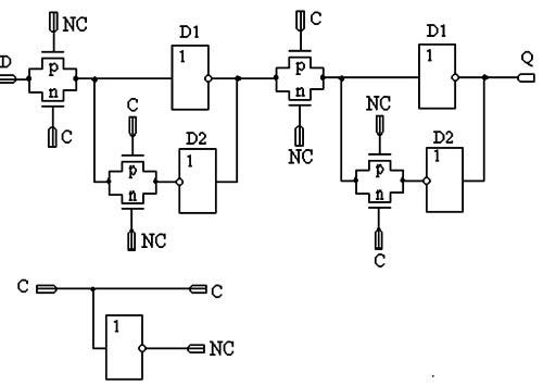 Схема статического триггера