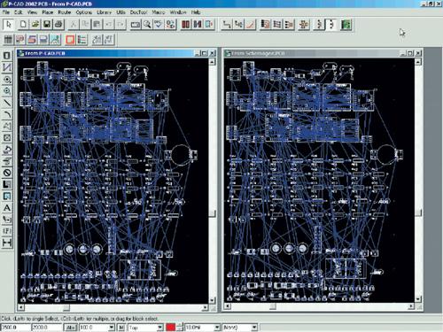 P-CAD 2002 двух проектов,